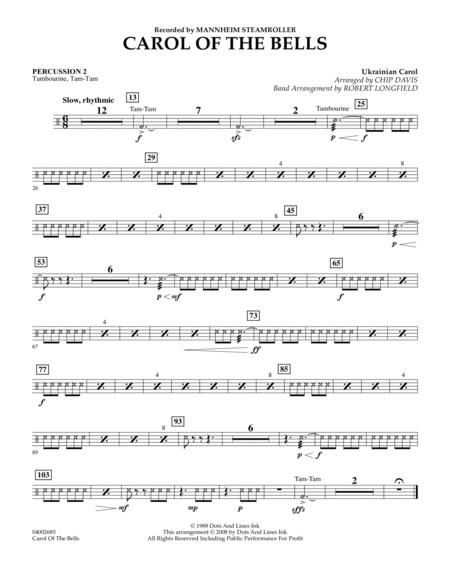 Carol Of The Bells - Percussion 2