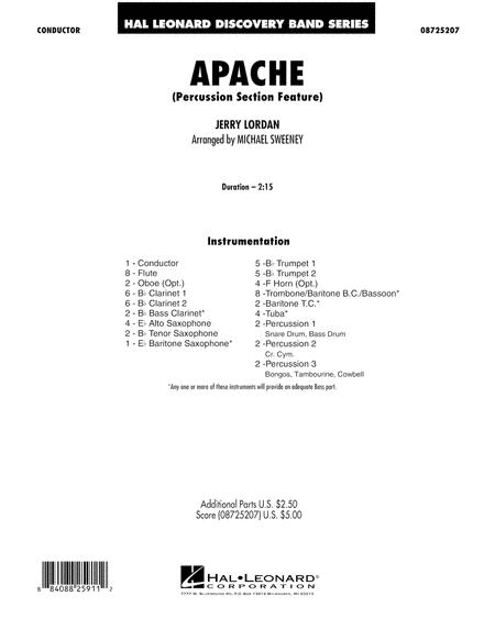 Apache (Percussion Section Feature) - Full Score