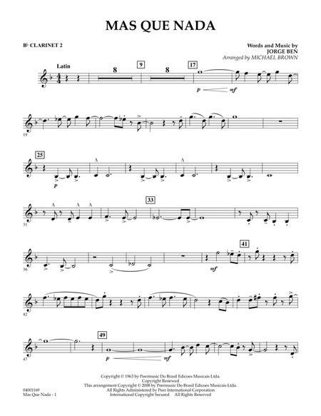 Mas Que Nada - Bb Clarinet 2
