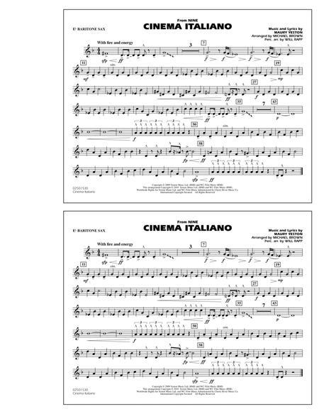 Cinema Italiano (from Nine) - Eb Baritone Sax