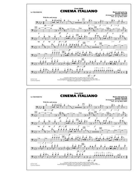 Cinema Italiano (from Nine) - 1st Trombone