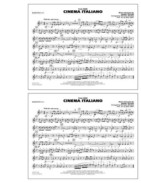 Cinema Italiano (from Nine) - Baritone T.C.