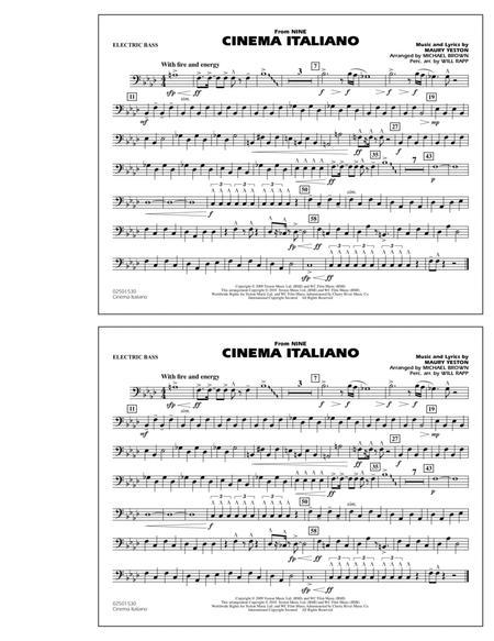 Cinema Italiano (from Nine) - Electric Bass
