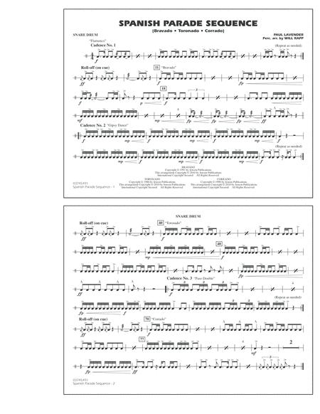 Spanish Parade Sequence - Snare Drum