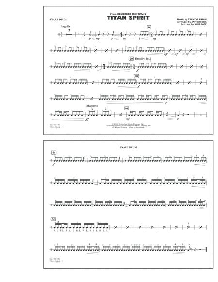 Titan Spirit (Theme from Remember The Titans) - Snare Drum