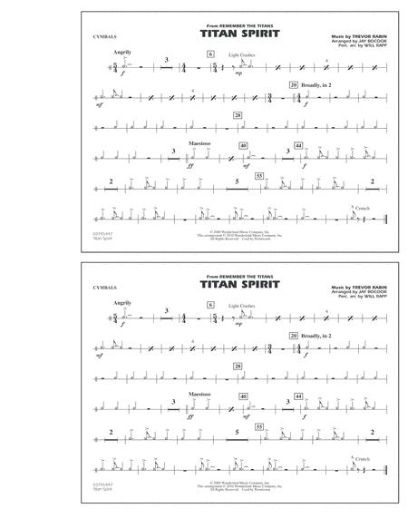 Titan Spirit (Theme from Remember The Titans) - Cymbals