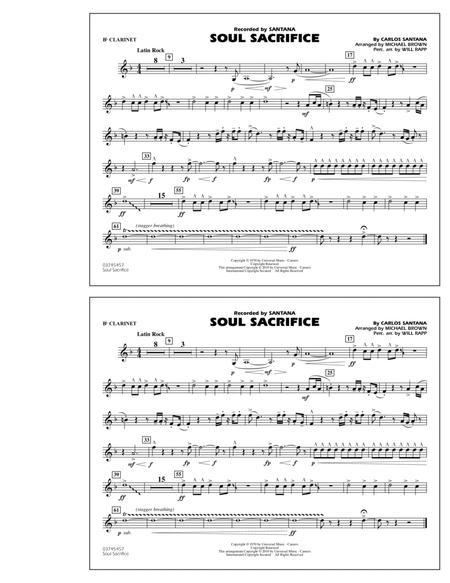 Soul Sacrifice - Bb Clarinet
