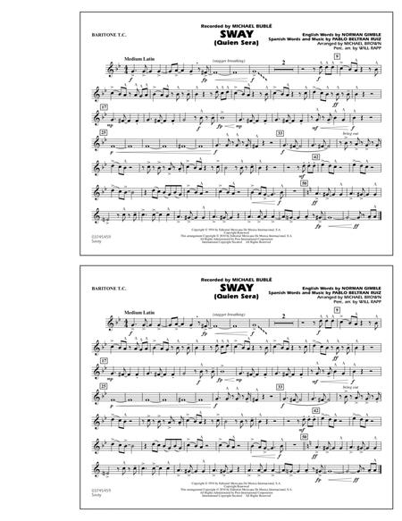 Sway (Quien Sera) - Baritone T.C.