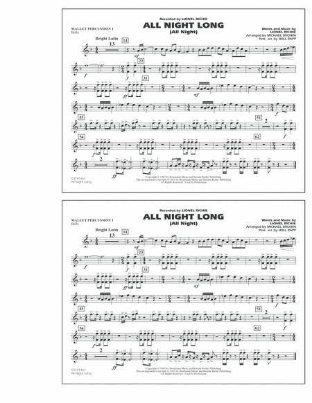 Download All Night Long (All Night) - Mallet Percussion 1 Sheet ...