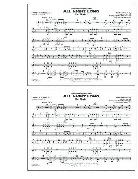 All Night Long (All Night) - Mallet Percussion 2