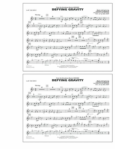 Defying Gravity (from Wicked) - 1st Bb Trumpet