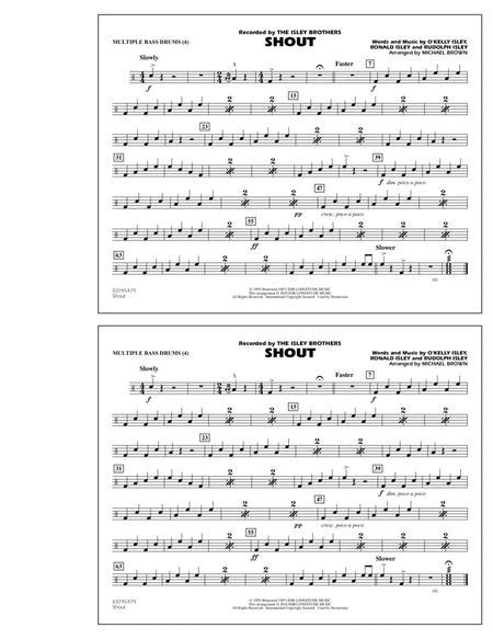 Shout - Multiple Bass Drums