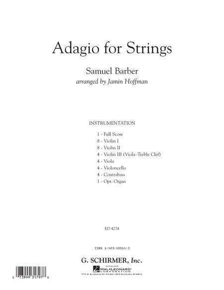 Adagio For Strings - Full Score