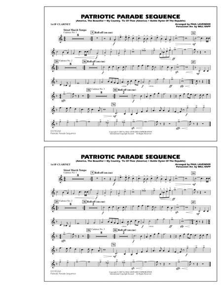 Patriotic Parade Sequence - 1st Bb Clarinet