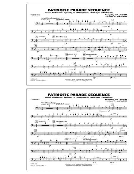 Patriotic Parade Sequence - Trombone