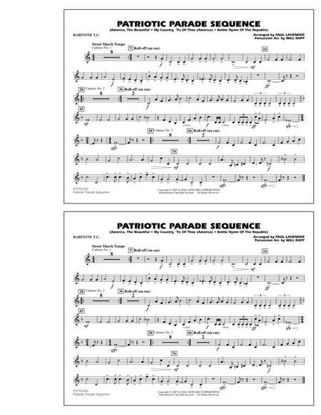 Patriotic Parade Sequence - Baritone T.C.