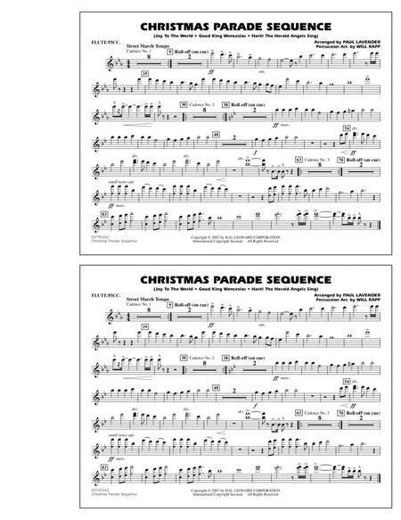 Christmas Parade Sequence - Flute/Piccolo