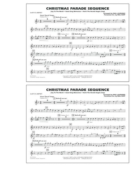 Christmas Parade Sequence - Bb Clarinet 1