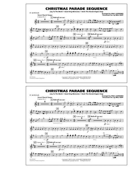Christmas Parade Sequence - Eb Alto Sax