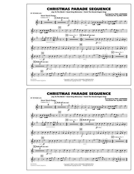 Christmas Parade Sequence - Bb Tenor Sax