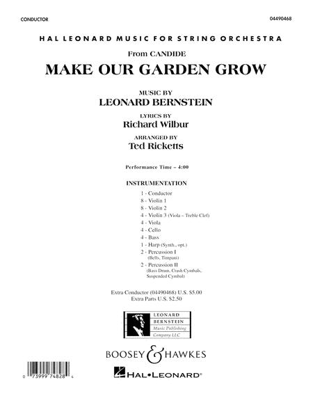 Make Our Garden Grow (from Candide) - Conductor Score (Full Score)