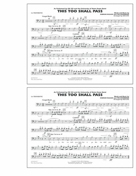 This Too Shall Pass - 1st Trombone