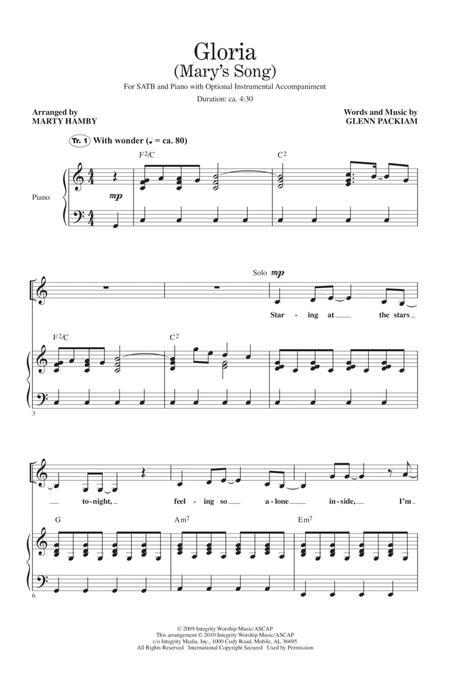 Gloria (Mary's Song)