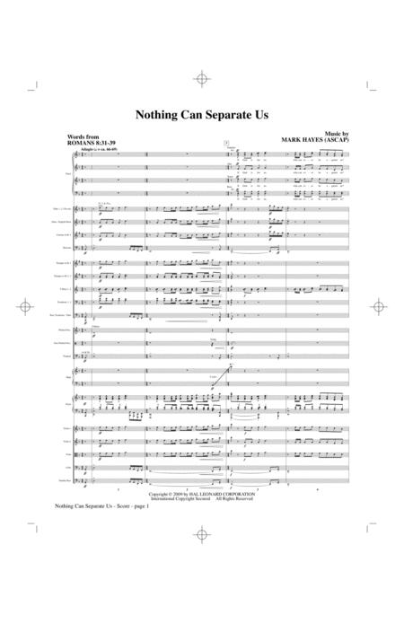 Nothing Can Separate Us - Full Score