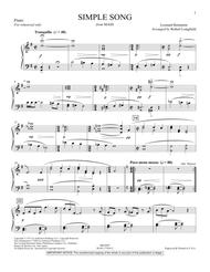 A Simple Song (from Mass) - Piano