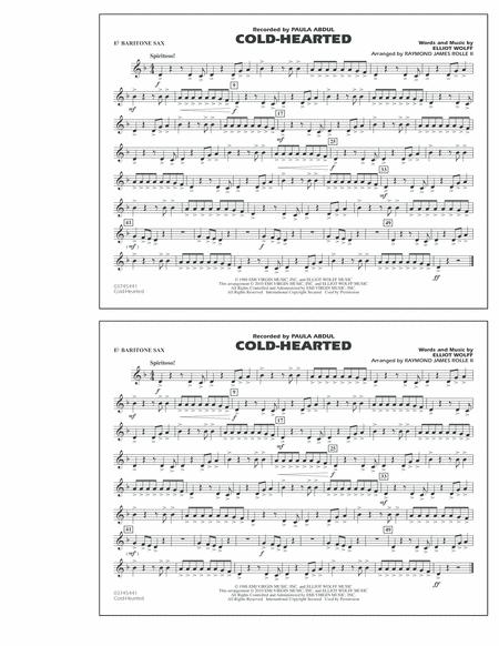 Cold-Hearted (Featured in Drumline Live) - Eb Baritone Sax