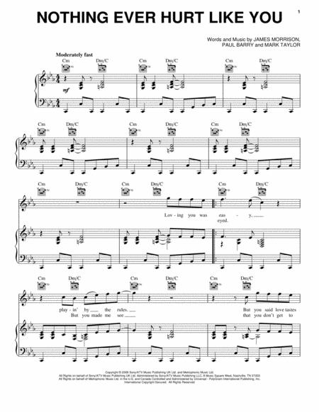 Download Nothing Ever Hurt Like You Sheet Music By James Morrison ...
