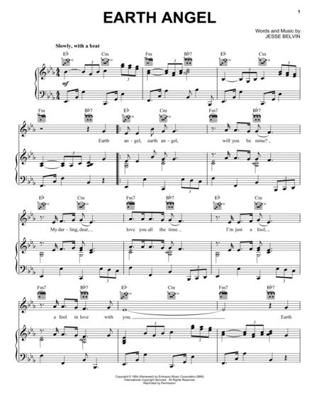 Download Earth Angel Sheet Music By The Crew-Cuts - Sheet Music Plus