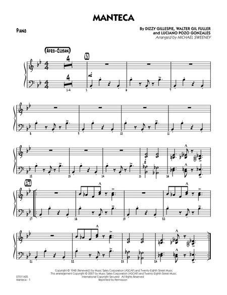 Download Manteca - Piano Sheet Music By Dizzy Gillespie