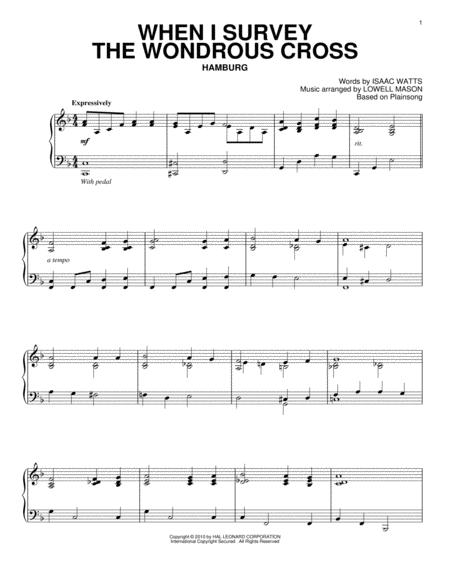 Download When I Survey The Wondrous Cross Sheet Music By Isaac Watts