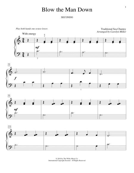 Download Blow The Man Down Sheet Music By Traditional Sea Shanty