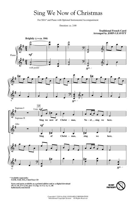 Sing We Now Of Christmas.Download Sing We Now Of Christmas Sheet Music By John