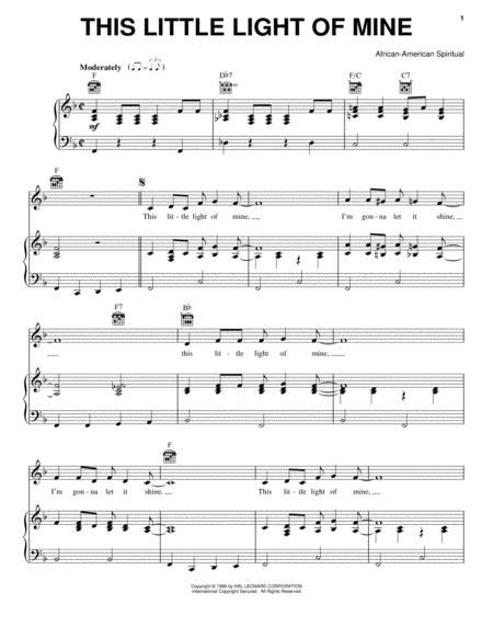 Download This Little Light Of Mine Sheet Music By African-American ...