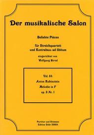 Melodie in F fur Streichquartett op. 3/1