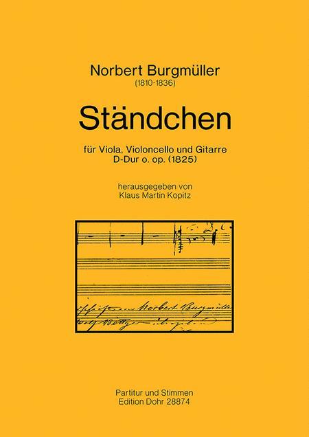 Standchen fur Viola, Violoncello und Gitarre D-Dur (1825)