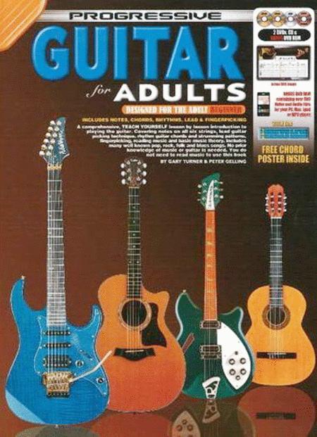 Progressive Guitar For Adults Bookcd2dvds Plus Bonus Dvd Rom Sheet