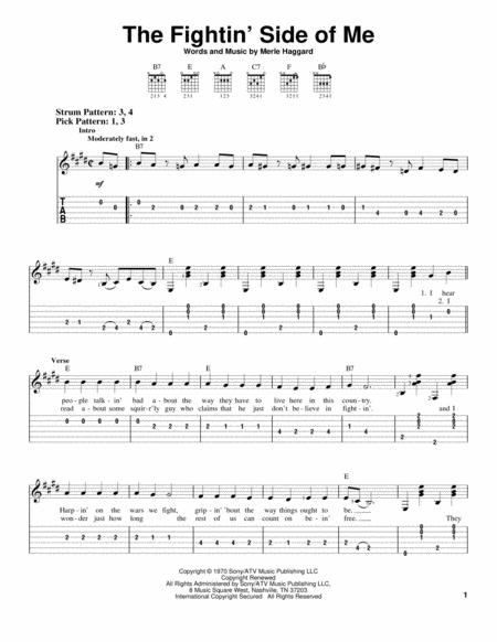 Download The Fightin' Side Of Me Sheet Music By Merle