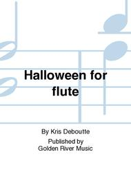 halloween for flute sheet music by kris deboutte sheet music plus