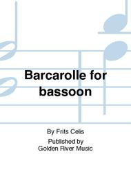 Barcarolle for bassoon