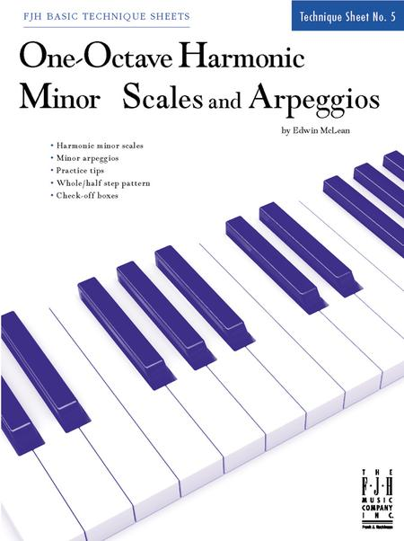 One-Octave Harmonic Minor Scales and Arpeggios
