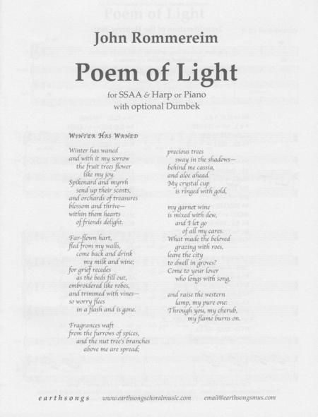 A Poem Of Light