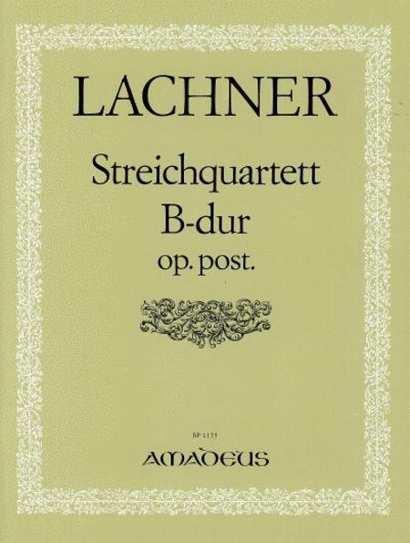 String Quartet in B major