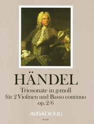 Trio Sonata in G Minor op. 2/6 HWV 391