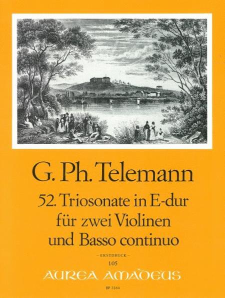 52nd Trio sonata E major TWV 42:E5