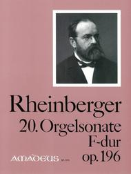 20. Organ sonata F major op. 196