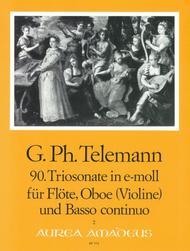 90. Trio sonata E minor TWV 42:e2